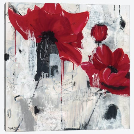 Poppy Love Canvas Print #PKB4} by Pamela K. Beer Canvas Wall Art