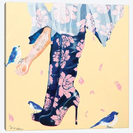 Her Best Friends Canvas Print #PKB9} by Pamela K. Beer Canvas Art Print
