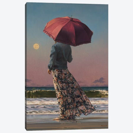 Romancing The Moon Canvas Print #PKE10} by Paul Kelley Canvas Art