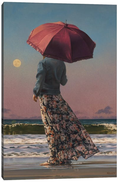 Romancing The Moon Canvas Art Print
