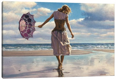 Walking On Broken Clouds Canvas Art Print