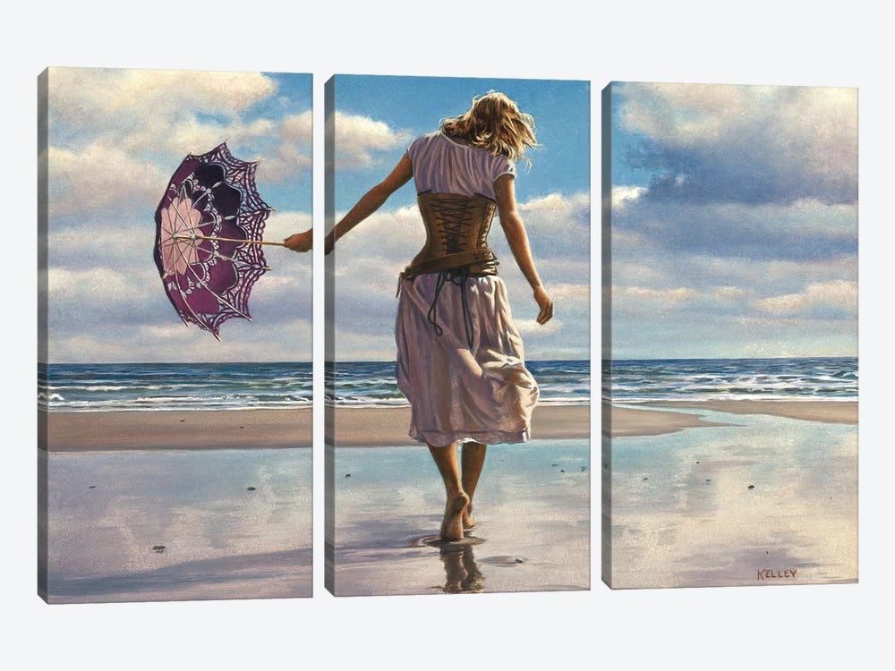 Walking On Broken Clouds 3-piece Canvas Wall Art