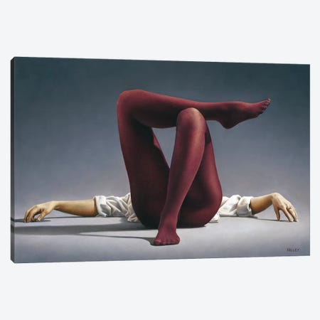 Burgundy Legs Study Canvas Print #PKE21} by Paul Kelley Canvas Print