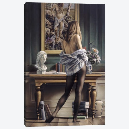 Life Imitating Art Canvas Print #PKE27} by Paul Kelley Canvas Wall Art