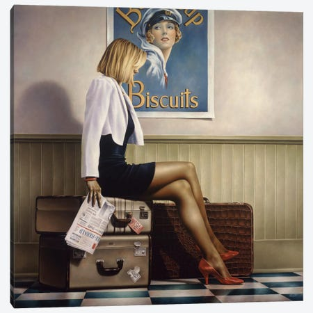 Biscuits Canvas Print #PKE2} by Paul Kelley Canvas Wall Art