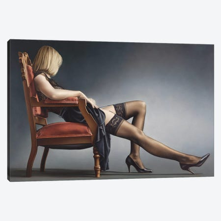 Passively Evocative In Chair Canvas Print #PKE32} by Paul Kelley Canvas Artwork