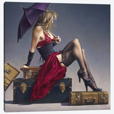 Study For The Exotic Traveller Canvas Print #PKE36} by Paul Kelley Canvas Art Print