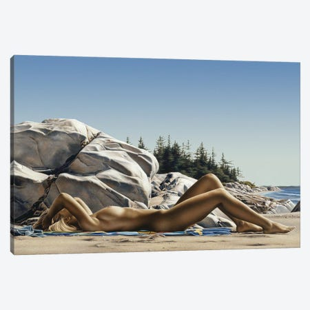 Sunbather Canvas Print #PKE38} by Paul Kelley Canvas Artwork