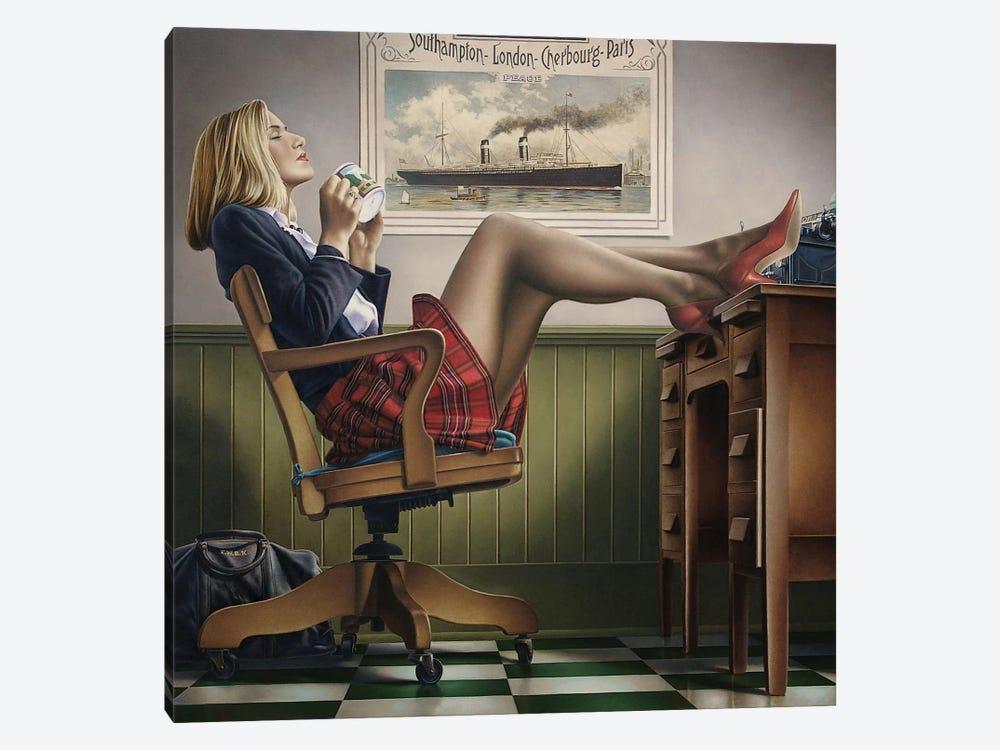 Coffee Break by Paul Kelley 1-piece Canvas Artwork
