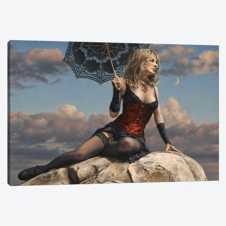 Under A Crescent Moon Canvas Print #PKE48} by Paul Kelley Canvas Art Print