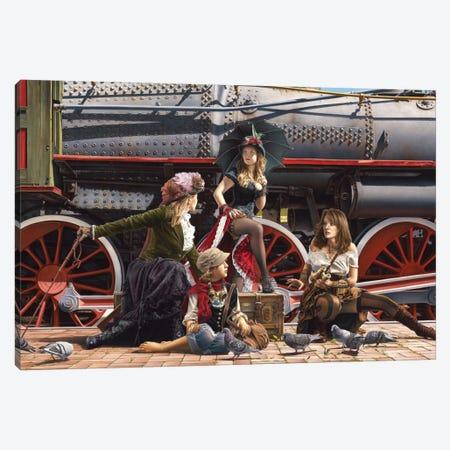 Last Train For The Coast Canvas Print #PKE4} by Paul Kelley Canvas Print