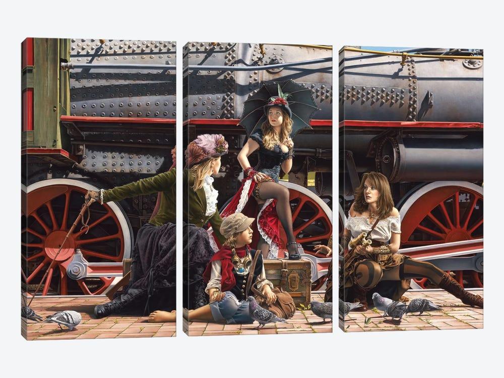 Last Train For The Coast by Paul Kelley 3-piece Canvas Art Print