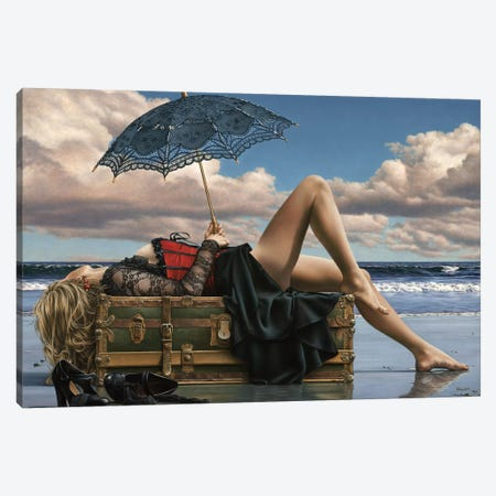 Summers Supine Eve 3-Piece Canvas #PKE57} by Paul Kelley Canvas Print