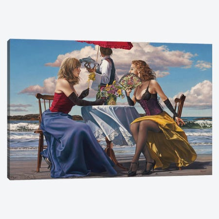 Café Oceanus Canvas Print #PKE5} by Paul Kelley Canvas Art Print