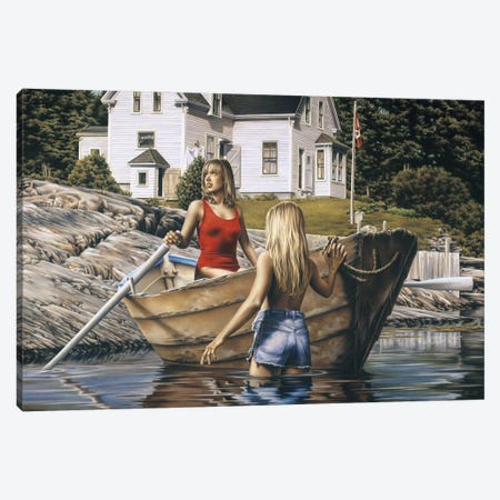 The Cove Canvas Print #PKE60} by Paul Kelley Art Print