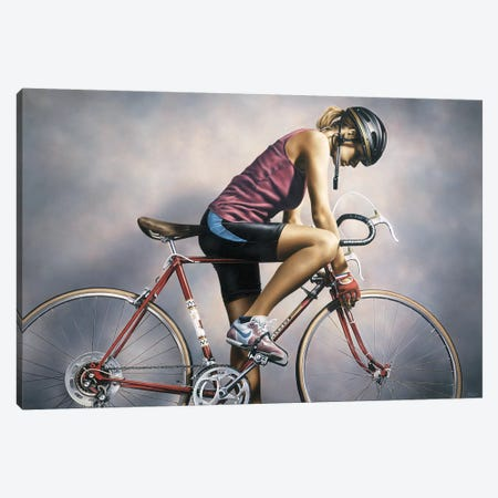 The Cyclist Canvas Print #PKE61} by Paul Kelley Canvas Art Print