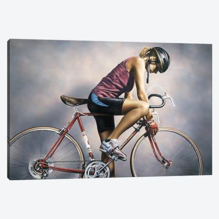 The Cyclist Canvas Print #PKE61} by Paul Kelley Canvas Art Print