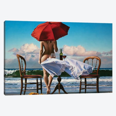 Distant Shores Canvas Print #PKE68} by Paul Kelley Art Print