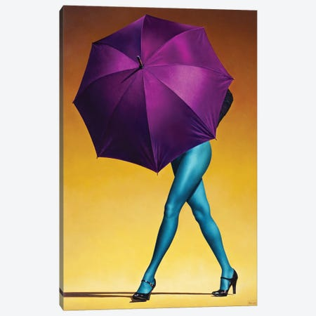 Purple Umbrella Canvas Print #PKE69} by Paul Kelley Canvas Art Print