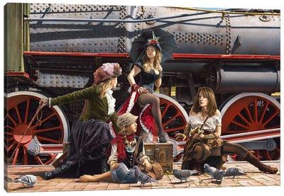 Last Train For The Coast Canvas Art Print