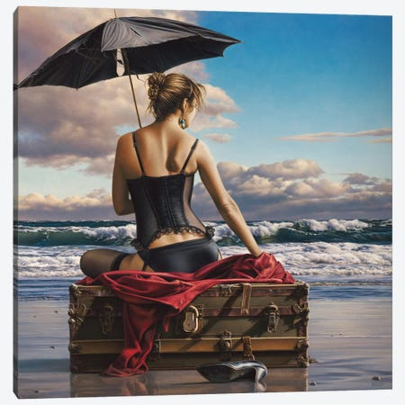 On The Edge Of The World Canvas Print #PKE8} by Paul Kelley Canvas Art