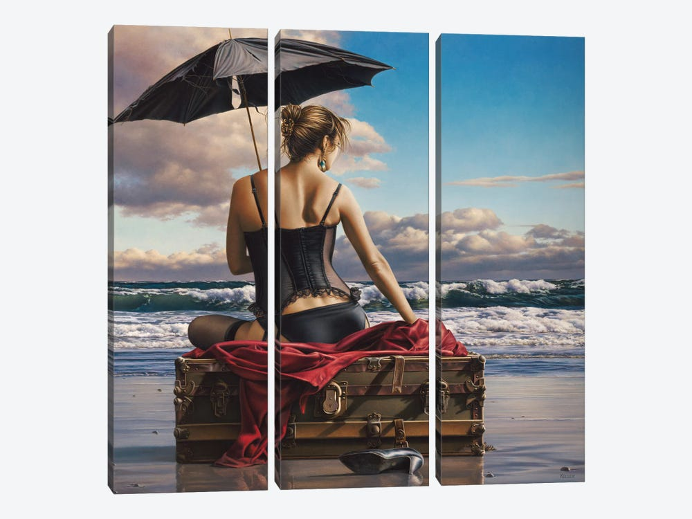 On The Edge Of The World by Paul Kelley 3-piece Canvas Print