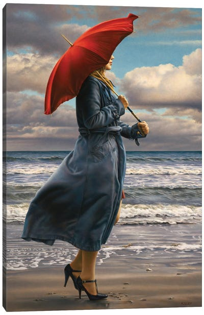 Red Umbrella Canvas Art Print