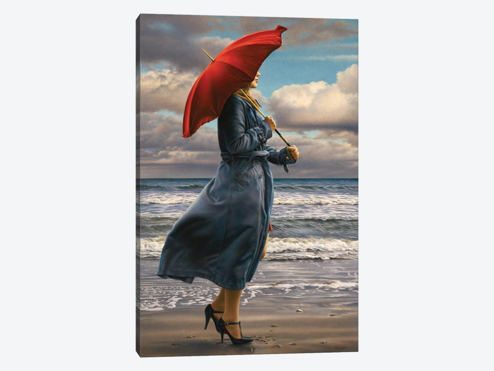 Red Umbrella by Paul Kelley 1-piece Canvas Artwork