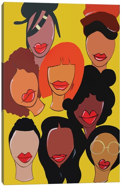 Faces Canvas Art Print