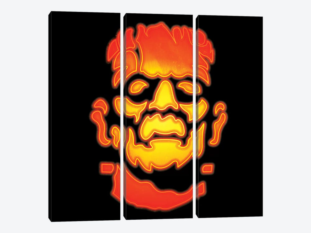 Frankenstein's Monster by 5by5collective 3-piece Canvas Print