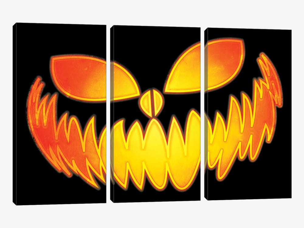 Pumpkin King by 5by5collective 3-piece Canvas Art Print