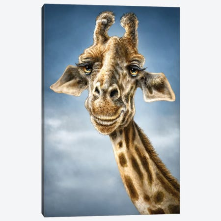 Giraffe 3-Piece Canvas #PLA11} by Patrick LaMontagne Canvas Print