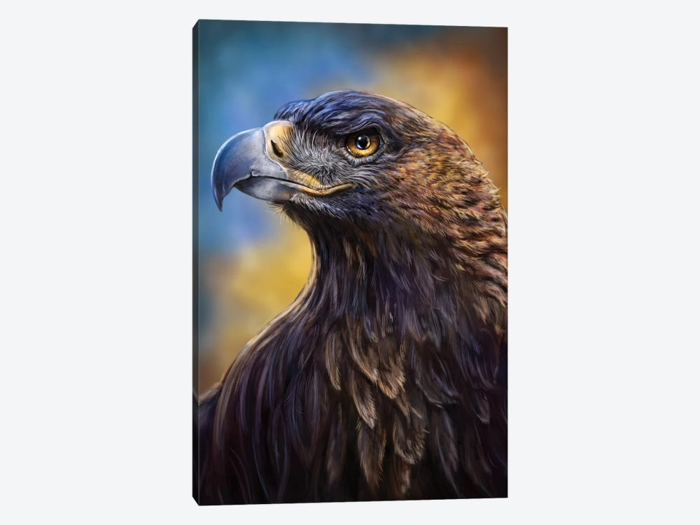 Golden Eagle by Patrick LaMontagne 1-piece Canvas Art Print