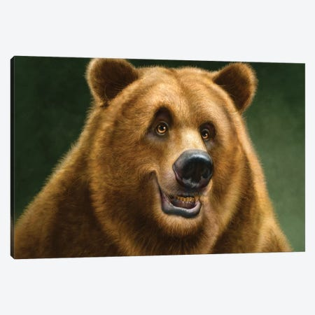 Grizzly Totem Canvas Print #PLA15} by Patrick Lamontagne Canvas Wall Art