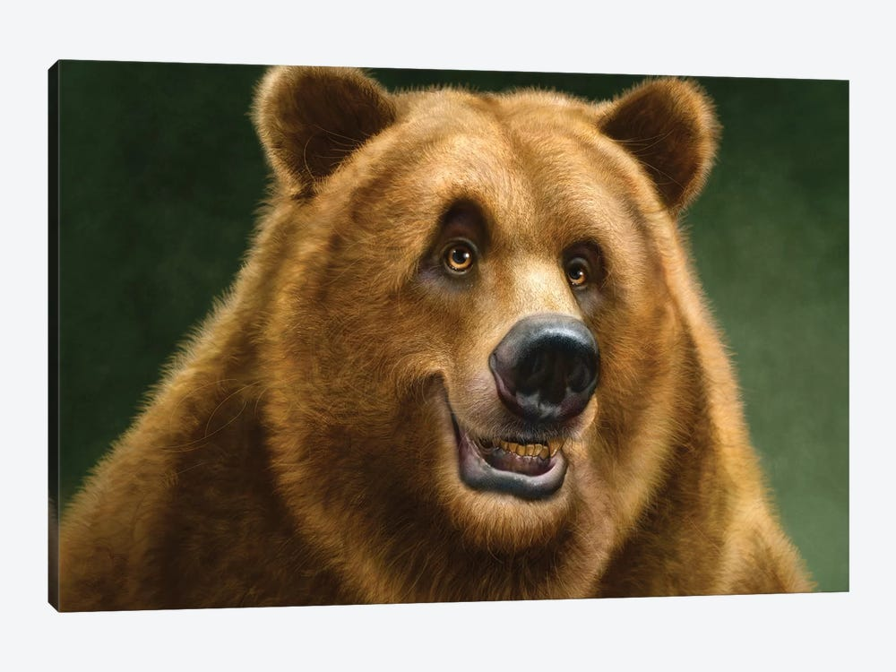 Grizzly by Patrick LaMontagne 1-piece Canvas Artwork