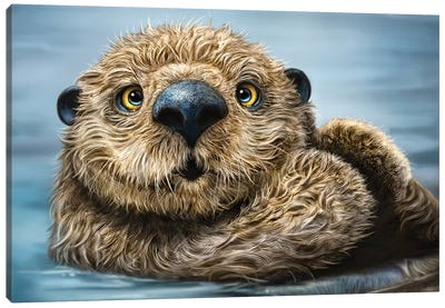 Otter Canvas Art Print