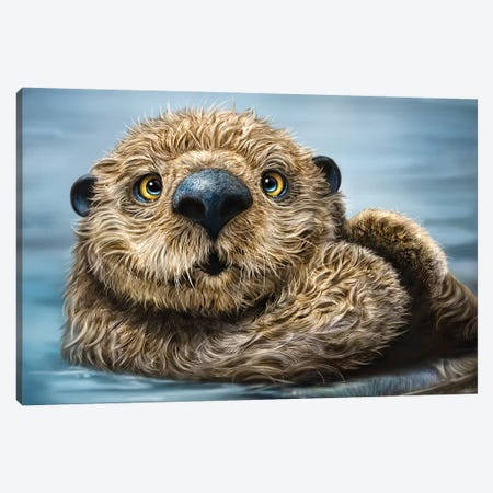 Otter Canvas Print #PLA30} by Patrick LaMontagne Canvas Print