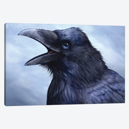 Raven Totem Canvas Print #PLA38} by Patrick Lamontagne Canvas Art Print