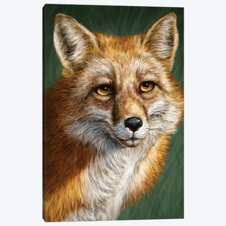 Red Fox Totem Canvas Print #PLA39} by Patrick Lamontagne Art Print