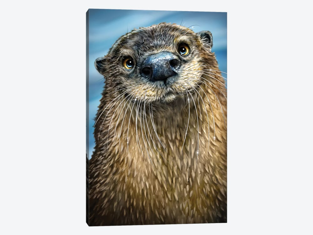 River Otter by Patrick LaMontagne 1-piece Canvas Art Print