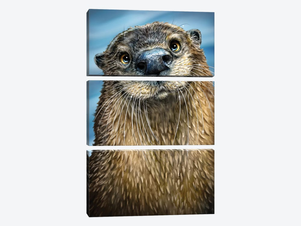 River Otter 3-piece Art Print
