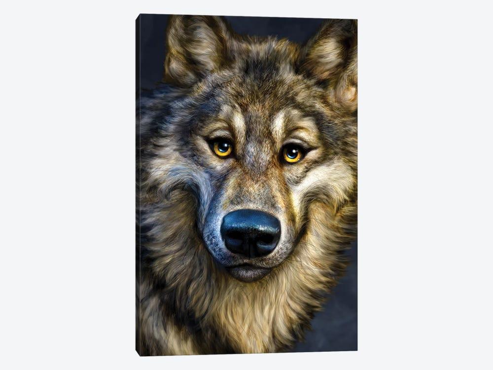 Wolf by Patrick LaMontagne 1-piece Canvas Art Print