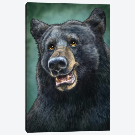 Black Bear Totem Canvas Print #PLA7} by Patrick Lamontagne Canvas Artwork
