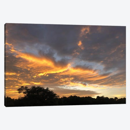 Lifting Sunset Canvas Print #PLH20} by Peter Laughton Canvas Print