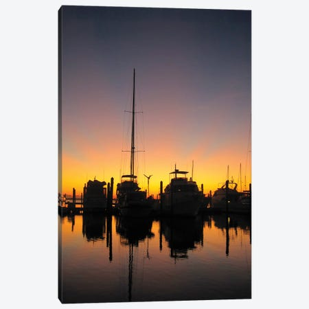 Boat Silhouettes Canvas Print #PLH5} by Peter Laughton Art Print