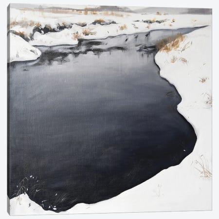 Frozen River Canvas Print #PLK10} by Polina Kharlamova Canvas Print