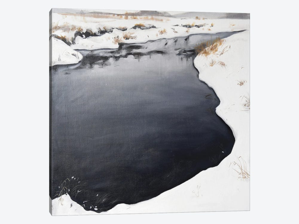 Frozen River by Polina Kharlamova 1-piece Canvas Art Print