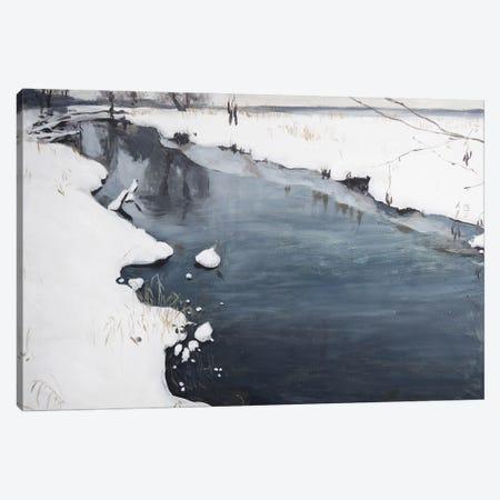 Silent Winter Canvas Print #PLK12} by Polina Kharlamova Art Print
