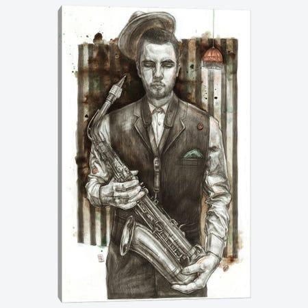 Jazzman Canvas Print #PLK14} by Polina Kharlamova Canvas Wall Art
