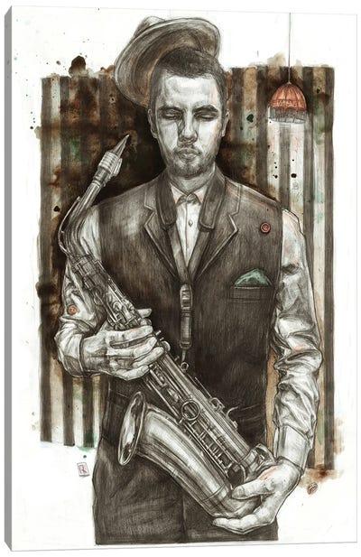 Jazzman Canvas Art Print